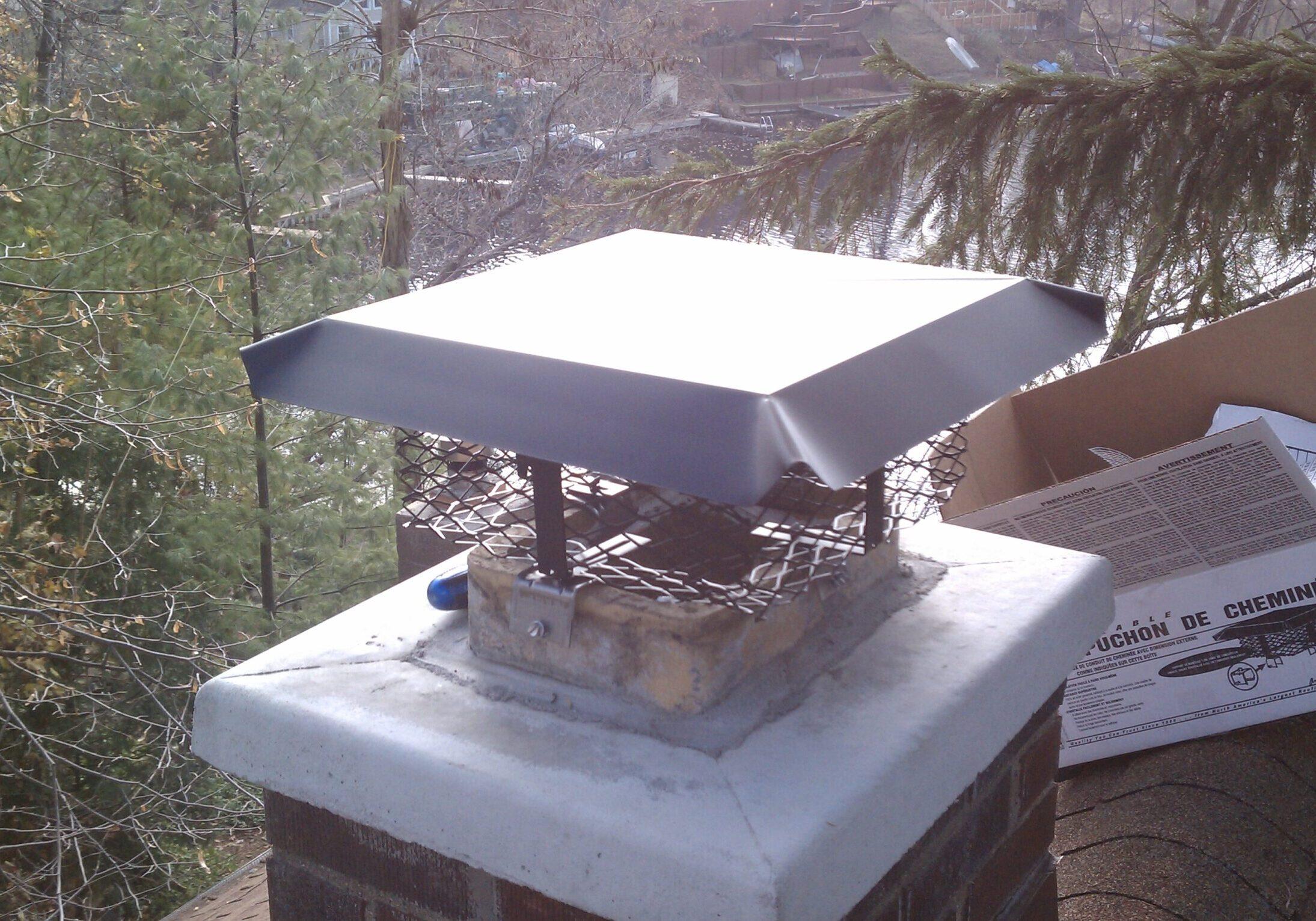 Chimney caps for wildlife prevention